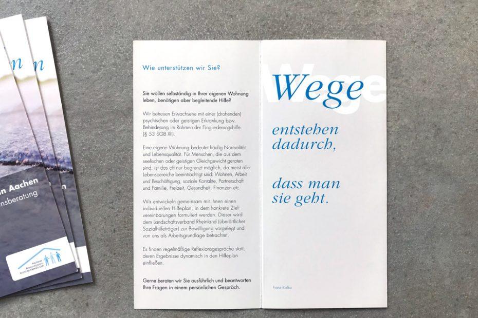 Aachener Betreuungsbüro, Flyer