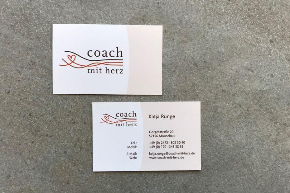 Coach mit Herz, Visitenkarte