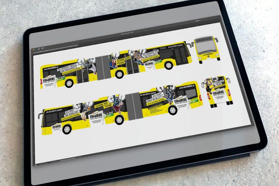 Flizz EUROBIKE Buswerbung