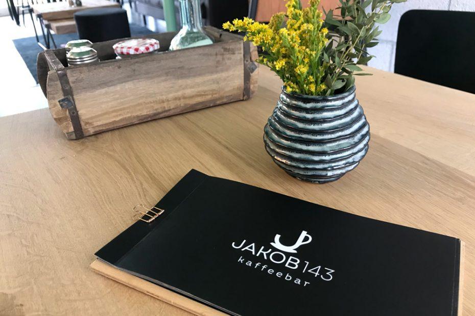 Jakob 143 Kaffeebar, Speisekarte