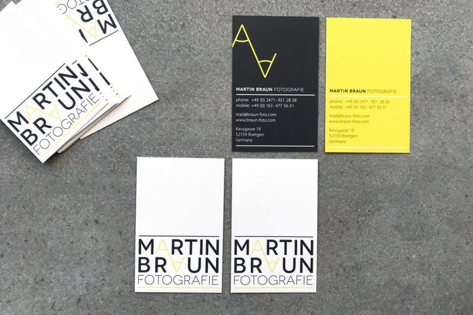Martin Braun Fotografie, Visitenkarte